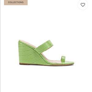LPA Green Croc Wedges